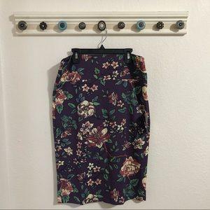 NWT Floral Lularoe Cassie Pencil Skirt